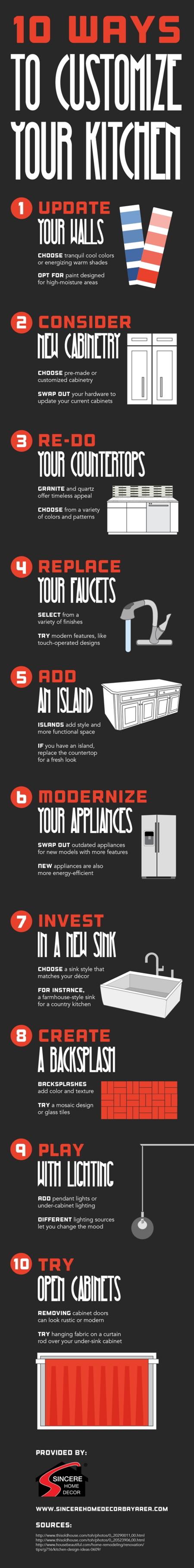 Formas de mejorar el aspecto de tu cocina #Infografía