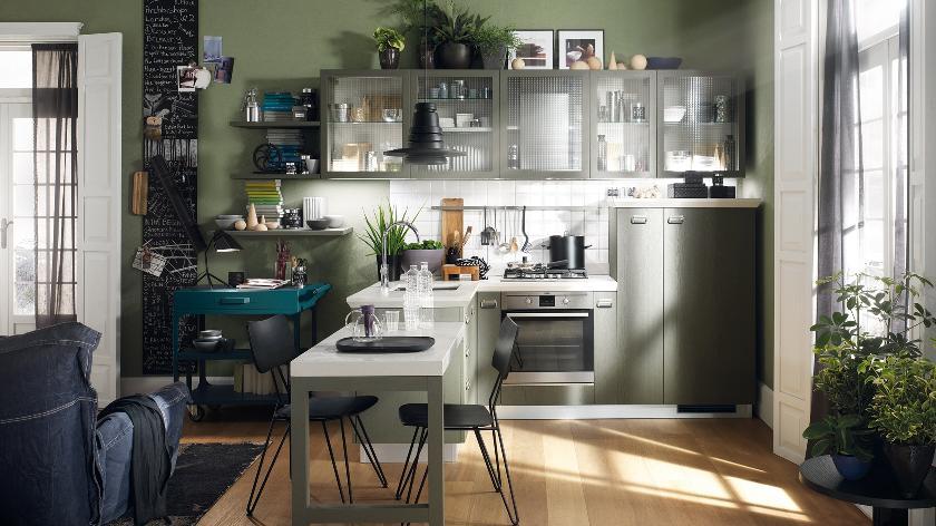 distintas formas de disposicion o diseño de la cocina